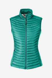 Green Plus Size Vests for Women: Women's MicroTherm StormDown Vest