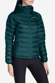 Blue Petite Outerwear for Women: Women's Downlight StormDown Hooded Jacket