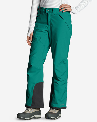 Green Plus Size Pants for Women: Women's Powder Search Insulated Pants