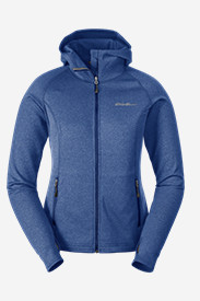 Blue Petite Outerwear for Women: Women's High Route Fleece Hoodie