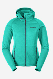 Green Petite Outerwear for Women: Women's High Route Fleece Hoodie