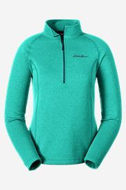 Green Petite Outerwear for Women: Women's High Route Fleece Pullover