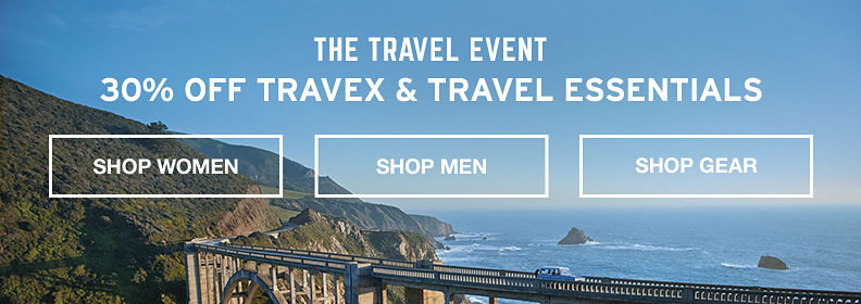 The Travex Event. 30% Off Travex and Travel Essentials.