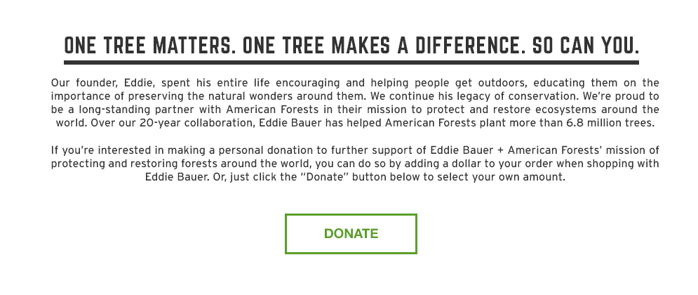 One tree matters. One tree makes a difference. So can you.