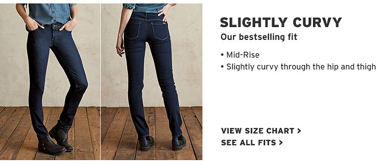 6421c31bf55 Women s Slightly Curvy Fit Jeans