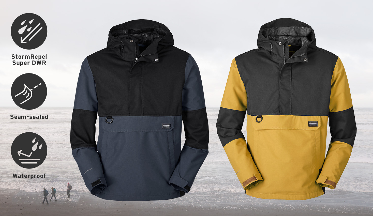 Two on form colorways of the Chopper Anorak Jacket