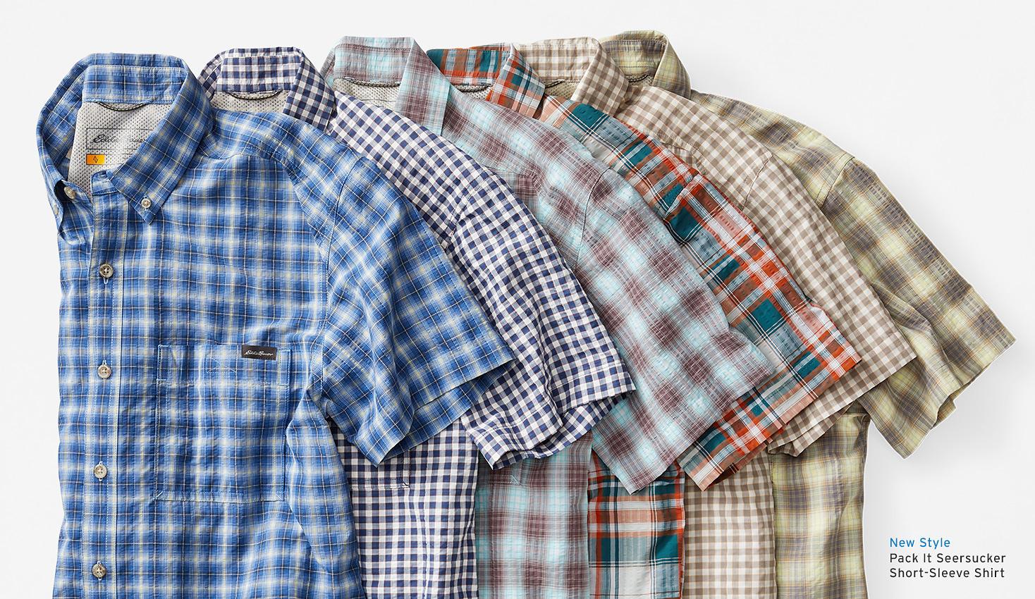Lay down of various baja shirt colorways