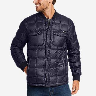 Eddie Bauer Men's Stratuslite Down Snap Jacket (Atlantic)