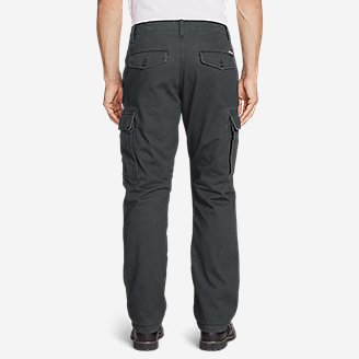 Thumbnail View 2 - Men's Flannel-Lined Cargo Pants