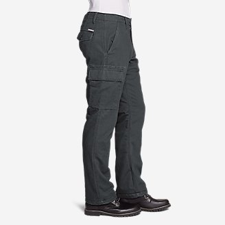 Thumbnail View 3 - Men's Flannel-Lined Cargo Pants