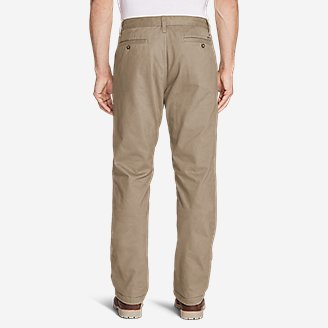 Thumbnail View 2 - Men's Flannel-Lined Chinos
