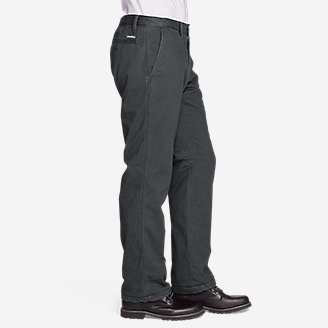 Thumbnail View 3 - Men's Flannel-Lined Chinos