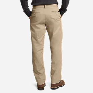 Thumbnail View 2 - Men's Flex Fleece-Lined Chinos - Slim