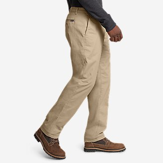 Thumbnail View 3 - Men's Flex Fleece-Lined Chinos - Slim
