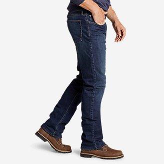 Thumbnail View 3 - Men's Fleece-Lined Flex Jeans - Straight