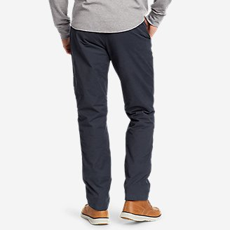 Thumbnail View 2 - Men's Voyager Flex Fleece-Lined Chino Pants