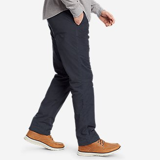 Thumbnail View 3 - Men's Voyager Flex Fleece-Lined Chino Pants