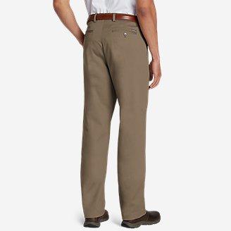 Thumbnail View 2 - Men's Dress Performance Flat-Front Khakis - Classic