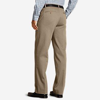 Thumbnail View 2 - Men's Performance Dress Flat-Front Khaki Pants - Relaxed Fit