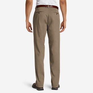 Thumbnail View 3 - Men's Performance Dress Flat-Front Khaki Pants - Relaxed Fit