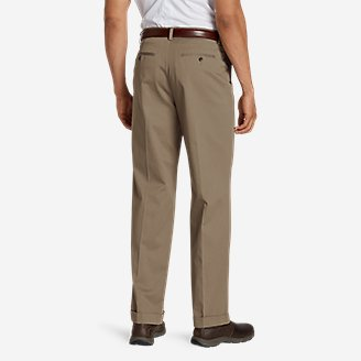 Thumbnail View 2 - Men's Wrinkle-Free Relaxed Fit Pleated Performance Dress Khaki Pants