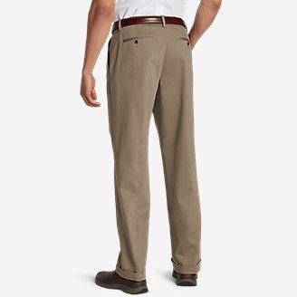 Thumbnail View 2 - Men's Performance Dress Comfort Waist Pleated Khaki Pants - Relaxed Fit