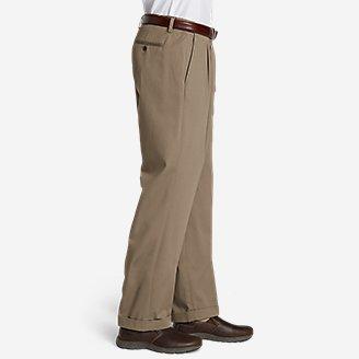 Thumbnail View 3 - Men's Performance Dress Comfort Waist Pleated Khaki Pants - Relaxed Fit