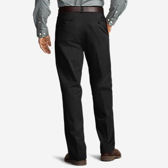 Thumbnail View 2 - Men's Casual Performance Chino Flat-Front Pants - Relaxed Fit