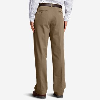 Thumbnail View 2 - Men's Wrinkle-Free Relaxed Fit Pleated Casual Performance Chino Pants