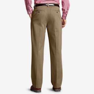 Thumbnail View 2 - Men's Wrinkle-Free Relaxed Fit Comfort Waist Casual Performance Chino Pants