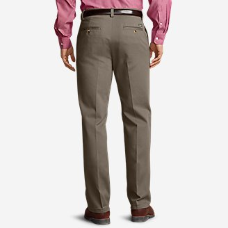 Thumbnail View 2 - Men's Casual Performance Chino Flat-Front Pants - Classic Fit