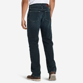 Thumbnail View 2 - Men's Flannel-Lined Jeans - Relaxed Fit