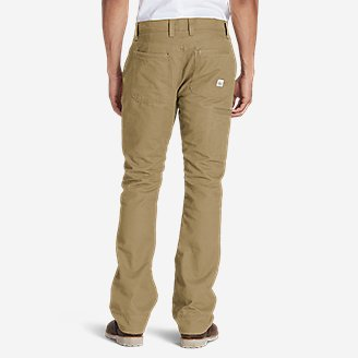 Thumbnail View 2 - Men's Lined Canvas Mountain Pants