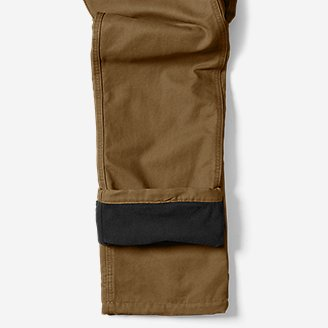 Thumbnail View 3 - Men's Lined Canvas Mountain Pants