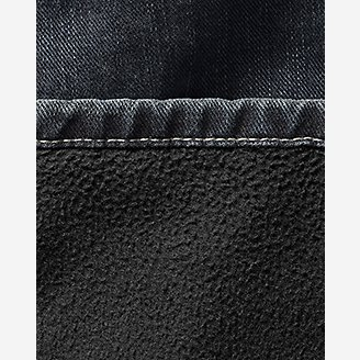 Thumbnail View 3 - Men's Fleece-Lined Jeans - Straight Fit