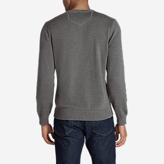 Thumbnail View 2 - Men's Signature Cotton Henley Sweater