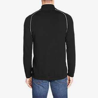 Thumbnail View 2 - Men's Talus Textured 1/4-Zip Sweater