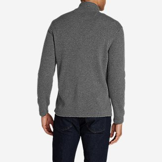 Thumbnail View 2 - Men's Long-Sleeve Sidecut 1/4-Zip Sweater
