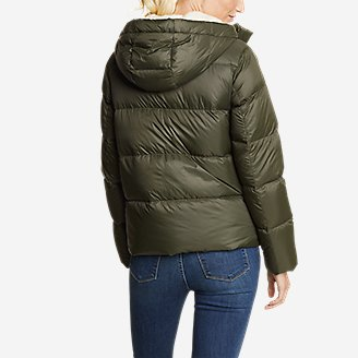 Thumbnail View 2 - Women's Stratuslite Down Faux Shearling-Lined Hoodie