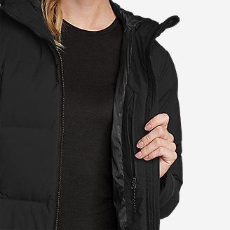 Thumbnail View 3 - Women's Glacier Peak Seamless Stretch Down Duffle Coat