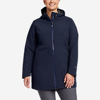 Thumbnail View 3 - Women's Cloud Cap Stretch Insulated Trench Coat