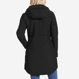 Thumbnail View 2 - Women's Cloud Cap Stretch Insulated Trench Coat