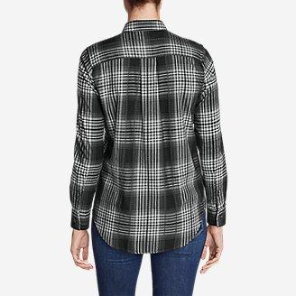 Thumbnail View 2 - Women's Stine's Favorite Flannel Shirt - Mixed Plaid Boyfriend