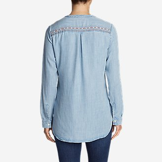 Thumbnail View 2 - Women's Tranquil Embroidered Popover Tunic