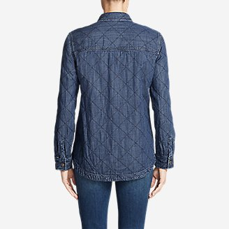 Thumbnail View 2 - Women's Quilted Indigo Shirt Jacket