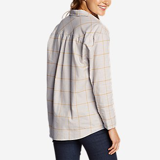 Thumbnail View 2 - Women's Stine's Favorite Flannel Boyfriend Shirt - Pattern