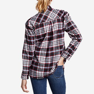 Thumbnail View 2 - Women's Stine's Favorite Flannel Boyfriend Shirt - Pattern