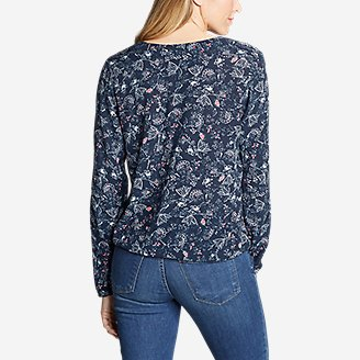 Thumbnail View 2 - Women's Thistle Long-Sleeve Wrap Top - Print
