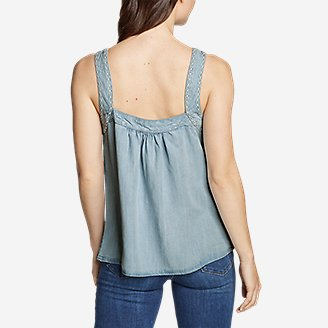 Thumbnail View 2 - Women's Tranquil Square-Neck Embroidered Sleeveless Top