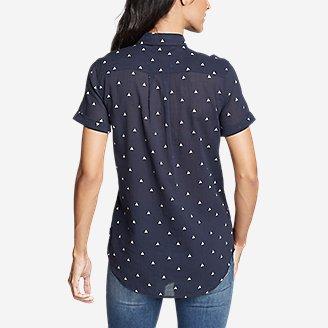 Thumbnail View 2 - Women's Packable Short-Sleeve Shirt - Boyfriend